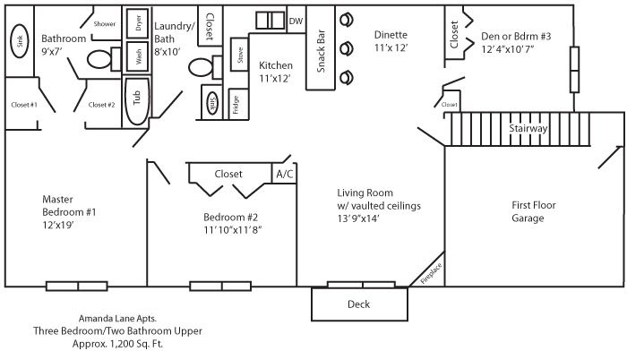 Amanda Lanes Luxury Apartments Floor Plan Page